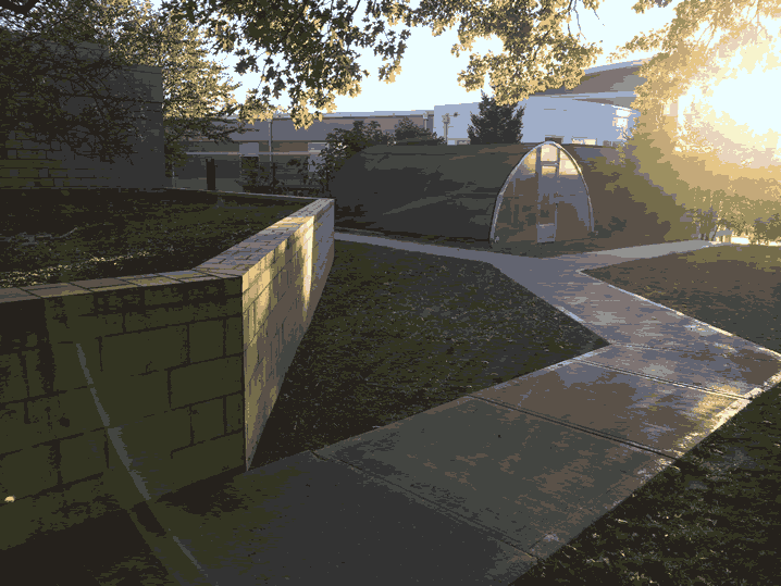 front walkway North Avondale Montessori School